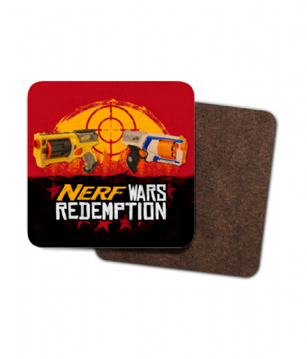 4 Pack Coasters Nerf Wars Redemption Red Dead Parody